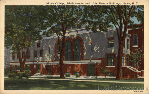 Ithaca College, Administration and LIttle Theatre Building New York