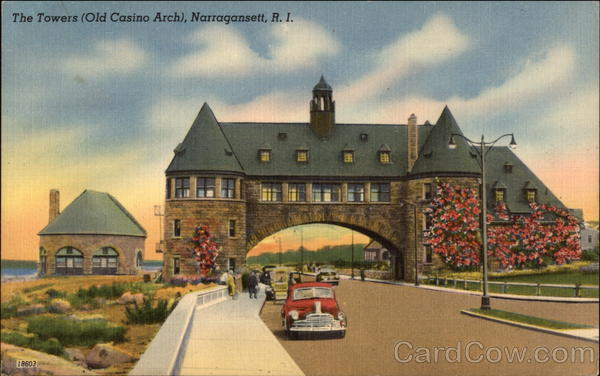 The Towers - Old Casino Arch Narragansett Rhode Island