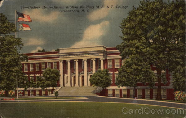 Dudley Hall, Administration Building at A. & T. College Greensboro North Carolina