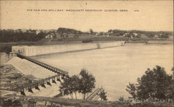 The Dam and Spillway, Wachussett Reservoir Clinton Massachusetts