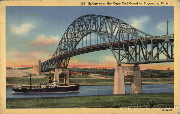 Bridge over the Cape Cod Canal Sagamore Massachusetts
