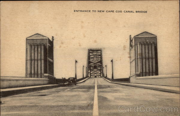 Entrance to New Cape Cod Canal Bridge Massachusetts