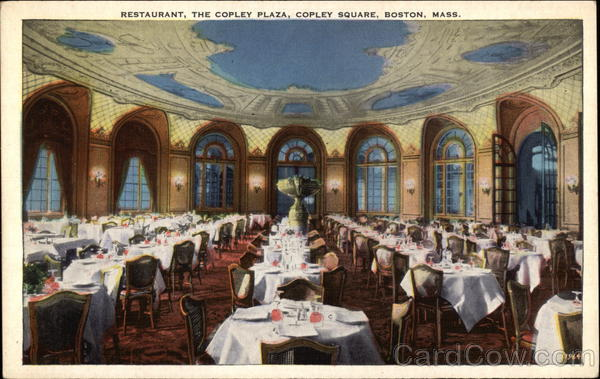 Restaurant, The Copley Plaza, Copley Square Boston Massachusetts
