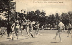 Basketball at Camp Takajo Postcard