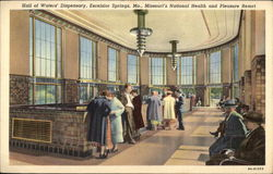Hall of Waters' Dispensary, Excelsior Springs, Mo., Missouri's National Health and Pleasure Resort