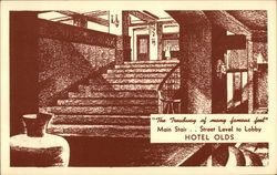 Hotel Olds, Main Stair, Street Level to Lobby