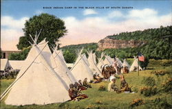 Sioux Indian Camp in the Black Hills of South Dakota