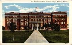 Russ Hall, Kansas State Teachers College Postcard