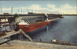 Loading Giant Freighters at Ore Docks on Lake Superior