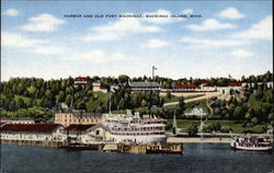 Harbor and Old Fort Mackinac