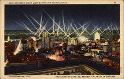 Night View with Battleship Searchlights