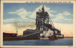 "New ""Baltimore and Ohio"" Coal Dock in Action"