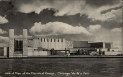 View of the Electrical Group - Chicago 1933 World's Fair Postcard