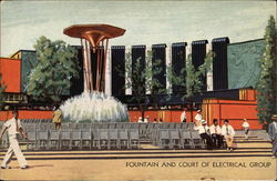 Fountain and Court of Electrical Group Postcard