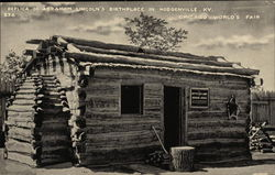 Replica of Abraham Lincoln's Birthplace Postcard