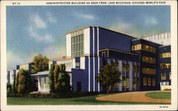 Administration Building as seen from Lake Michigan Postcard