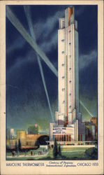 World's Tallest Thermometer Postcard