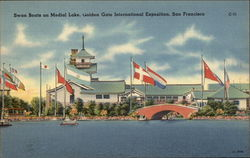 Swan Boats on Medical Lake, Golden Gate International Exposition