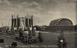 Travel and Transportation Buildings, Chicago World's Fair Postcard