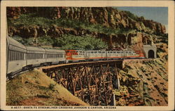 Santa Fe Streamliner crossing Johson's Canyon