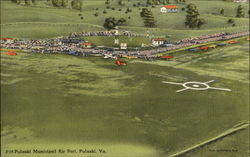 Pulaski Municipal Air Port Postcard