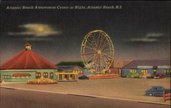 Atlantic Beach Amusement Center at Night