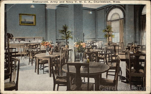 Restaurant, Army and Navy Y.M.C.A Charlestown Massachusetts