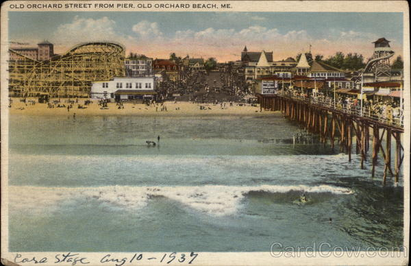 Old Orchard Street from Pier Old Orchard Beach Maine