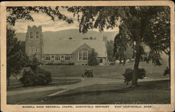 Russell Sage Memorial Chapel, Northfield Seminary East Northfield Massachusetts