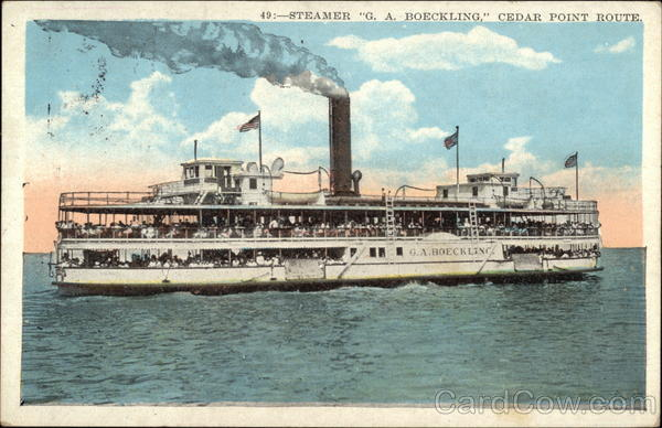 Steamer  G. A. Boeckling, Cedar Point Route Steamers
