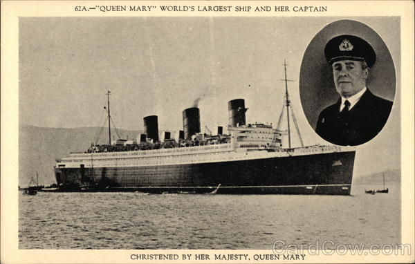 Queen Mary', World's Largest Ship and Her Captain