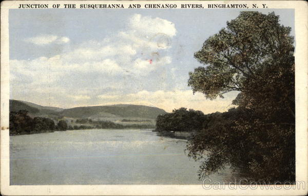 Junction of the Susquehanna and Chenango Rivers Binghamton New York