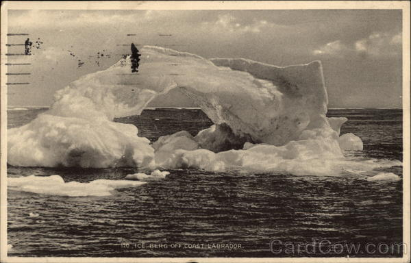 Ice Berg Off Coast - Labrador Canada Newfoundland and Labrador