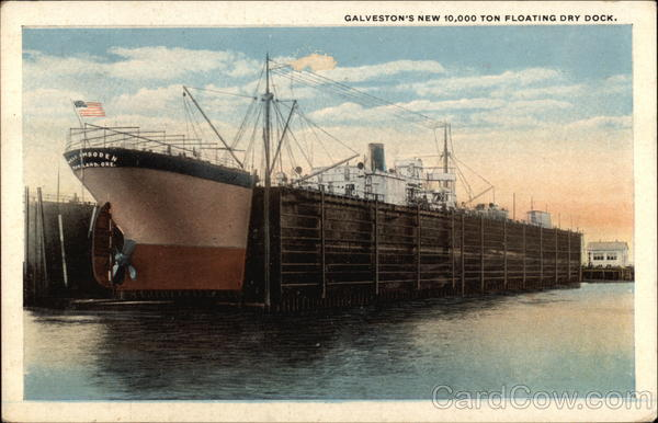 New 10,000 Ton Floating Dry Dock Galveston Texas