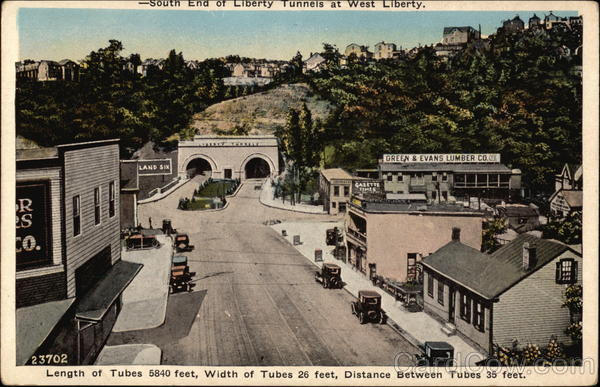 South end of Liberty Tunnels at West Liberty