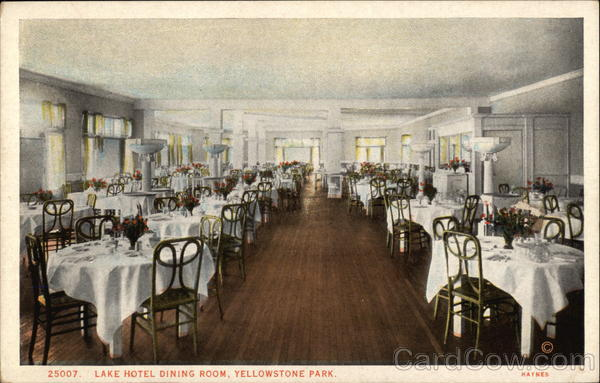 Lake Hotel Dining Room Yellowstone National Park Montana