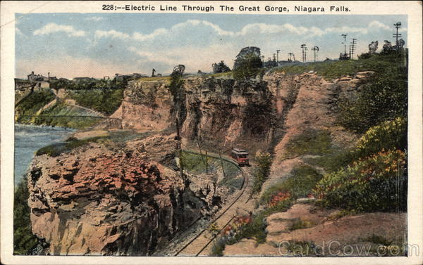 Electric Line Through the Great Gorge Niagara Falls New York