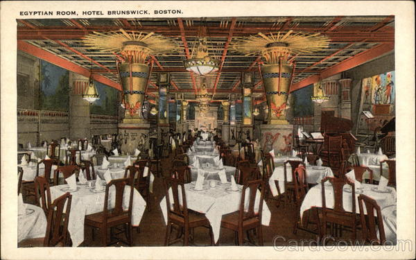 Egyptian Room, Hotel Brunswick Boston Massachusetts