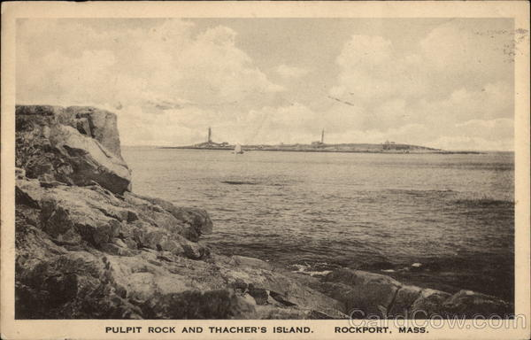 Pulpit Rock and Thacher's Island Rockport Massachusetts