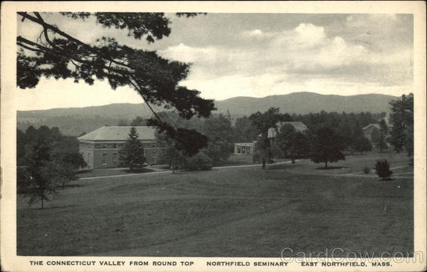 The Connecticut Valley from Round Top, Northfield Seminary East Northfield Massachusetts