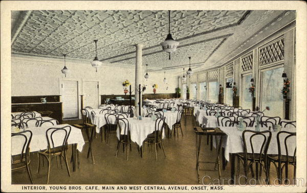 Interior, Young Brothers Cafe, Main and West Central Avenue Onset Massachusetts