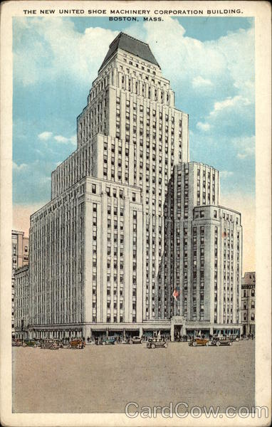 The New United Shoe Machinery Corporation Building Boston Massachusetts