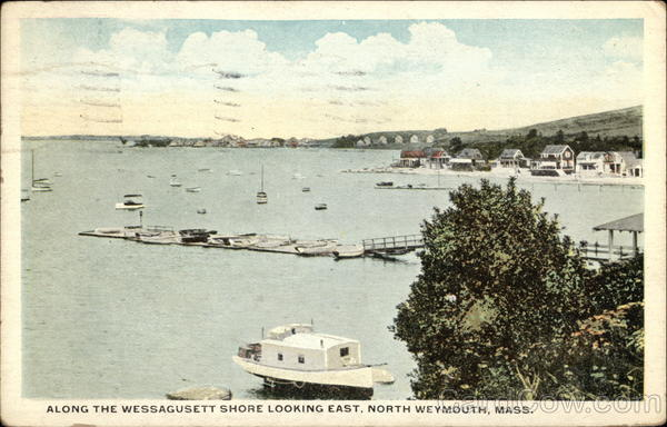Along the Wessagusett Shore Looking East North Weymouth Massachusetts