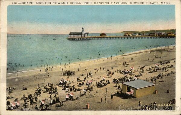 Beach Looking Toward Ocean River Pier Dancing Pavilion
