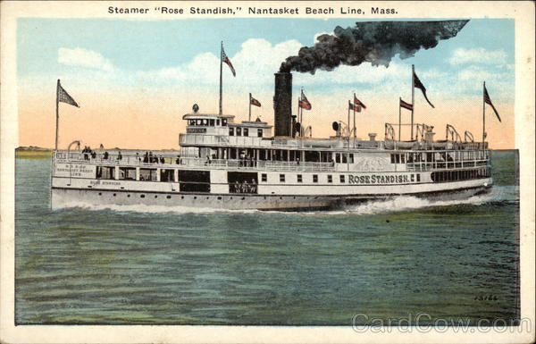 Steamer Rose Standish, Nantasket Beach Line Massachusetts