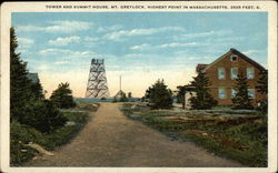 Tower and Summit House, Mount Greylock Postcard