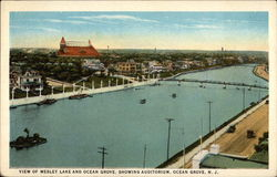 View of Wesley Lake and Ocean Grove, Showing Auditorium