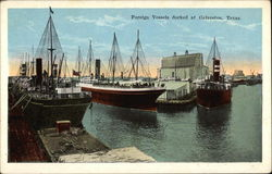 Foreign Vessels Docked at Galveston, Texas