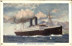 "Anchhor Line--Twin-Screw Steamship ""Cameronia"""