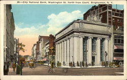 City National Bank, Washington St. North from Court Postcard
